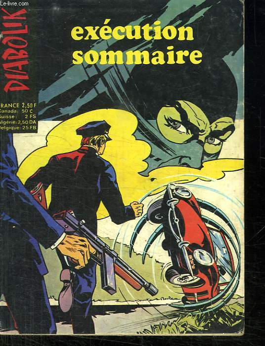 DIABOLIK N° 75. EXECUTION SOMMAIRE.