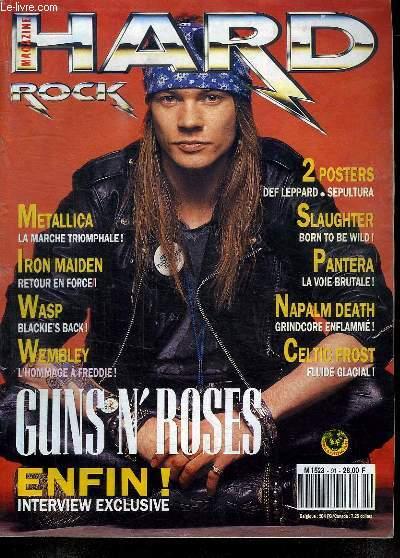 HARD ROCK N° 91. JUIN 1992. SOMMAIRE: TONZON ZEZE. CELTIC FROST. METALLICA. HARD STAGE.