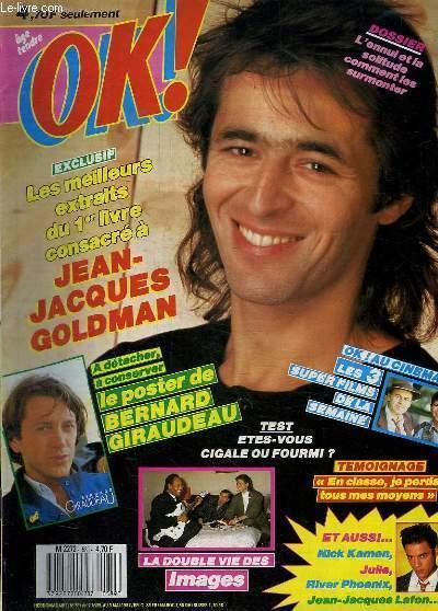 OK ! N° 589 DU 27 AU 3 AVRIL 1987. SOMMAIRE:  RIVER PHOENIX. JULIE PIETRI. JEAN JACQUES GOLDMAN.
