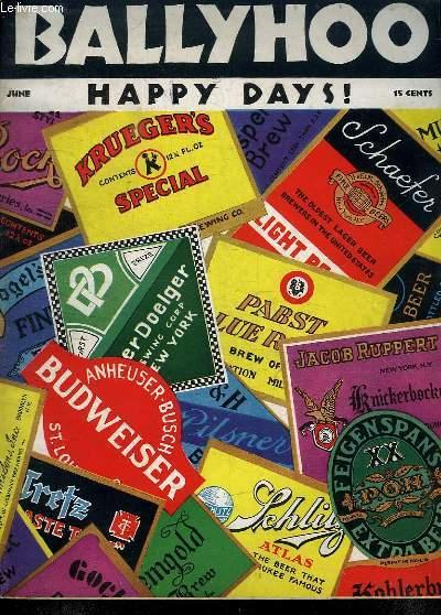 BALLYHOO HAPPY DAYS. JUNE. TEXTE EN  ANGLAIS.