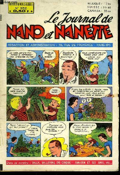 LE JOURNAL DE NANO ET NANETTE N° 352.