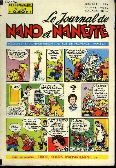 LE JOURNAL DE NANO ET NANETTE N° 353.