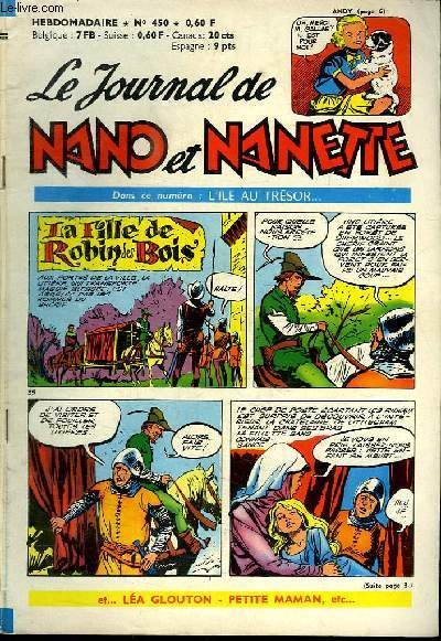LE JOURNAL DE NANO ET NANETTE N° 450.