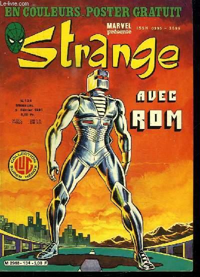 STRANGE N° 134. 5 FEVRIER 1981. AVEC ROM. DANS LA CIBLE DU TIREUR.
