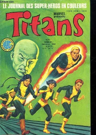 TITANS N° 59. LE JOURNAL DES SUPER HEROS EN COULEURS. COUCHER DE SOLEIL.