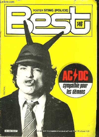BEST N° 146. SOMMAIRE: LILI DROP. AC / DC. LE ROCK D ICI...