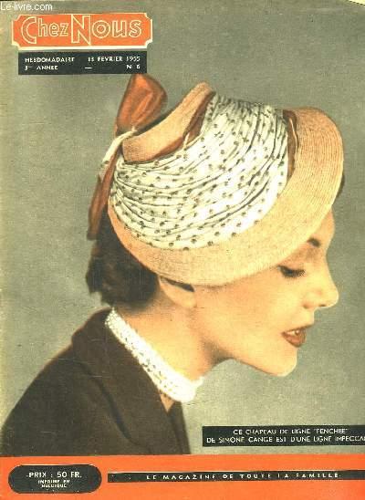 CHEZ NOUS N° 6. 13 FEVRIER 1955. 3 EM ANNEE.