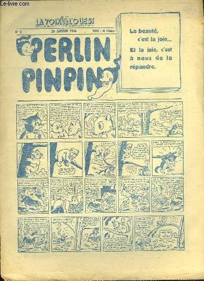 LA VOIX DE L OUEST. PERLIN PINPIN N° 2. 20 JANVIER 1946.