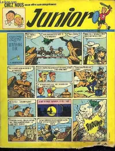 JUNIOR N° 29. 19 JUILLET 1952. JEROME DANS LE TOMAHAWK D OR.