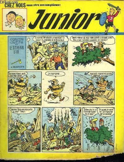 JUNIOR N° 30. 26 JUILLET 1962. JEROME DANS LE TOMAHAWK D OR.