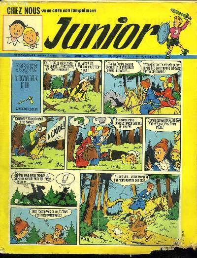 JUNIOR N° 33. 16  AOUT 1962. JEROME DANS LE TOMAHAWK D OR.