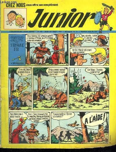 JUNIOR N° 35. 30 AOUT 1962. JEROME DANS LE TOMAHAWK D OR.