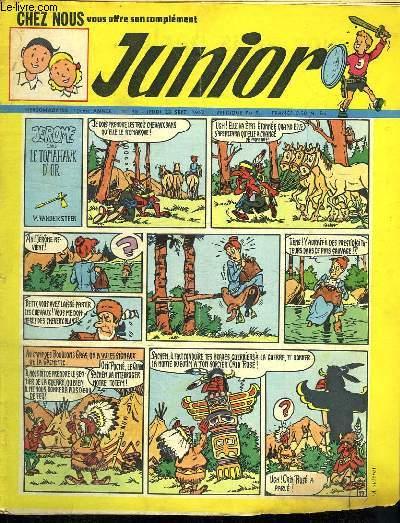 JUNIOR N° 38. 20 SEPTEMBRE 1962. JEROME DANS LE TOMAHAWK D OR.