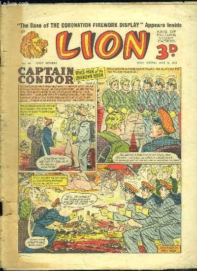 LION N° 68. CAPTAIN CONDOR SPACE MA OF THE UNKNOWN MOON. TEXTE EN ANGLAIS.