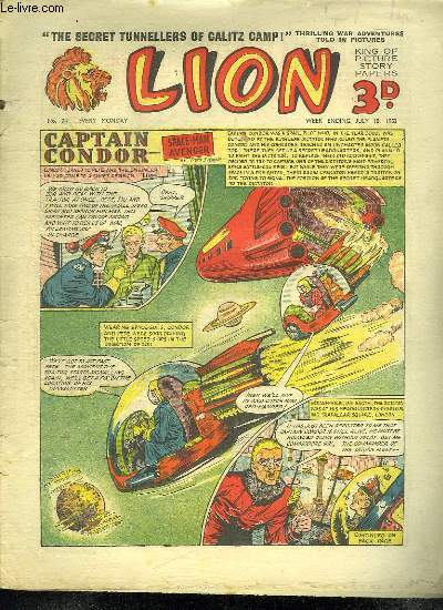 LION N° 74. CAPTAIN CONDOR SPACE MAN AVENGER. TEXTE EN ANGLAIS.