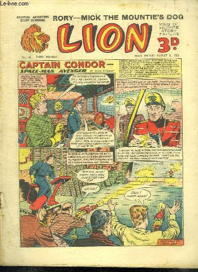 LION N° 76. CAPTAIN CONDOR SPACE MAN AVENGER. TEXTE EN ANGLAIS.