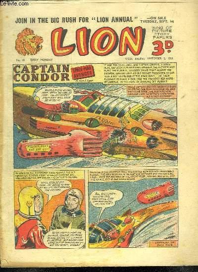 LION N° 81. SPACE MAN AVENGER. TEXTE EN ANGLAIS.