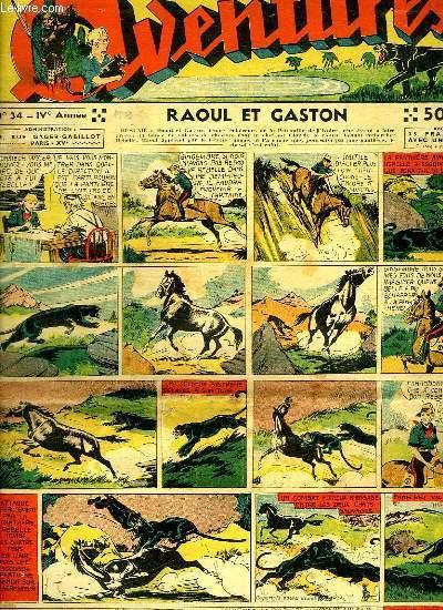 AVENTURES N° 34. RAOUL ET GASTON.