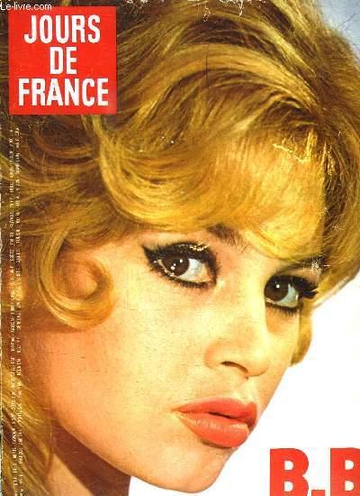 JOURS DE FRANCE N° 1462. SOMMAIRE: B B N A PAS TOUT DIT. LA MODE JOURS DE FRANCE FOURRURES. LE BRIDGE PAR ROGER TREZEL...