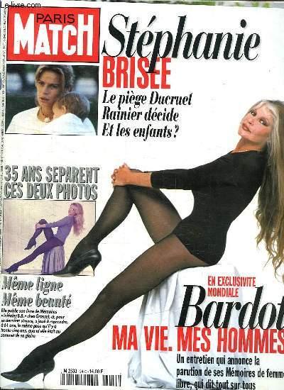 PARIS MATCH N° 2470. SOMMAIRE: BROGITTE BARDOT AUSSI BELLE QU A 20 ANS. LE TRESOR DE LA MER ROUGE. RICHARD BRANSON.  MIREILLE DUMAS. JEAN PAUL II L HOMME BLESSE...
