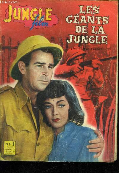 JUNGLE FILM N° 9 II EM ANNEE 1961. LES GEANTS DE LA JUNGLE  ROMAN PHOTO COMPLET.