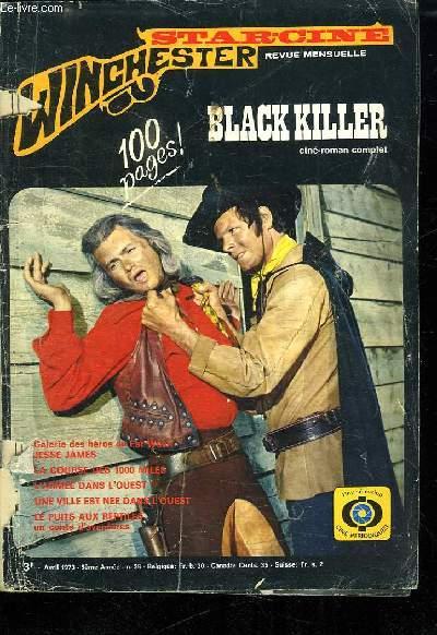 STAR CINE N° 36. 5 EM ANNEE. AVRIL 1973. BLACK KILLER.