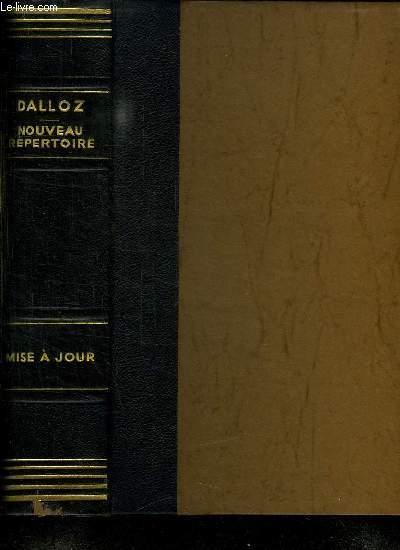 2 TOMES. NOUVEAU REPERTOIRE DE DROIT MISE A JOUR 1979. TOME 1 A à H. TOME 2 I à W.
