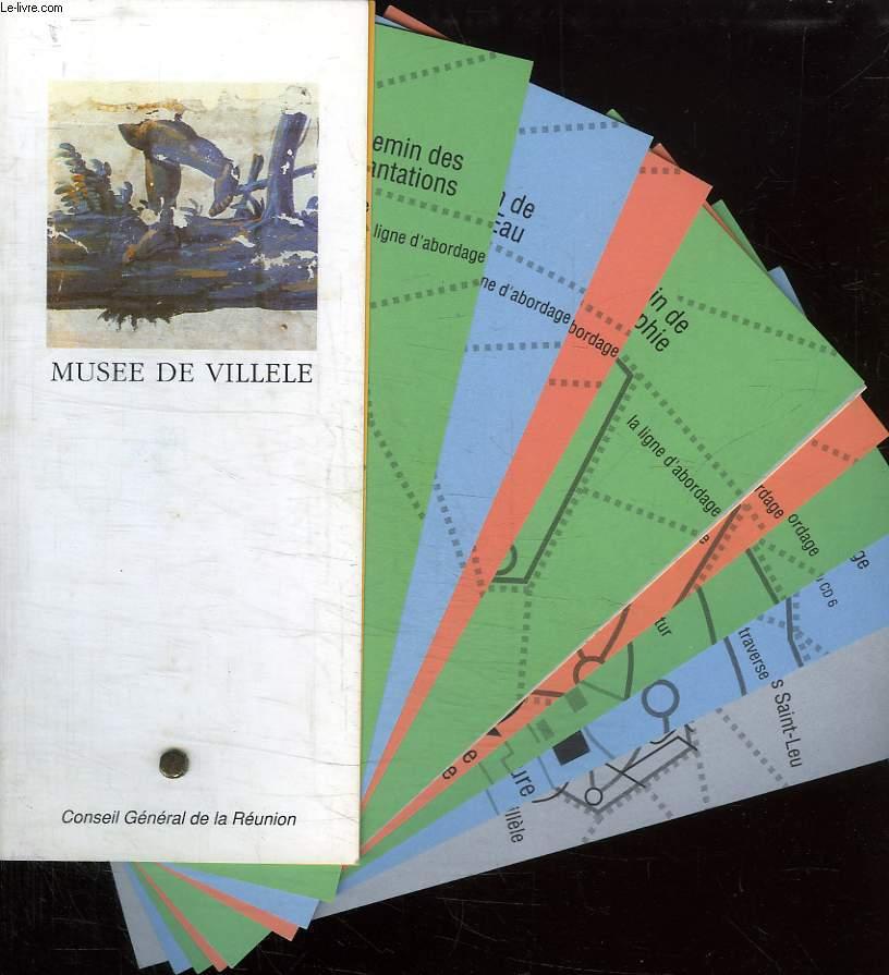 MUSEE DE VILLELE. GUIDE EN EVANTAILLE.