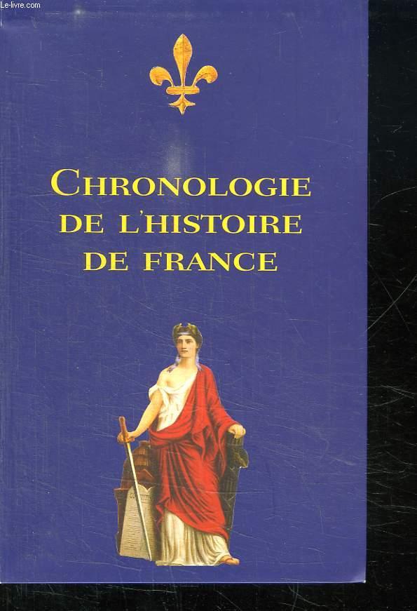 CHRONOLOGIE DE L HISTOIRE DE FRANCE.