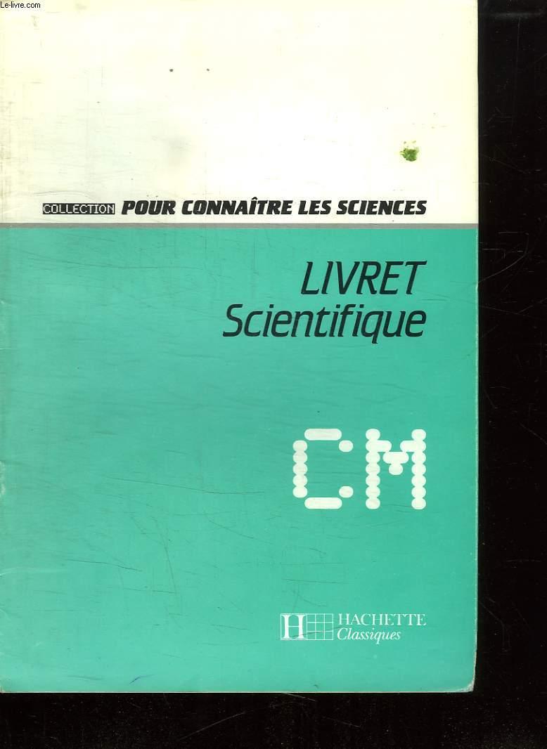 LIVRET SCIENTIFIQUE CM.