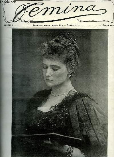 FEMINA 1901. DU N° 1 AU N° 22. SM L IMPERATRICE DE RUSSIE. A LA POUPONNIERE...