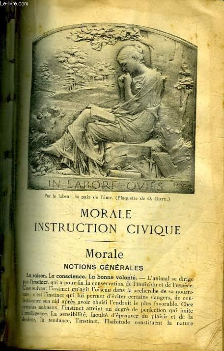 MORALE INSTRUCTION CIVIQUE.