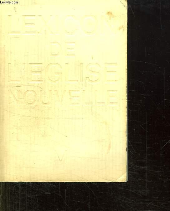 LEXICON DE L EGLISE NOUVELLE.
