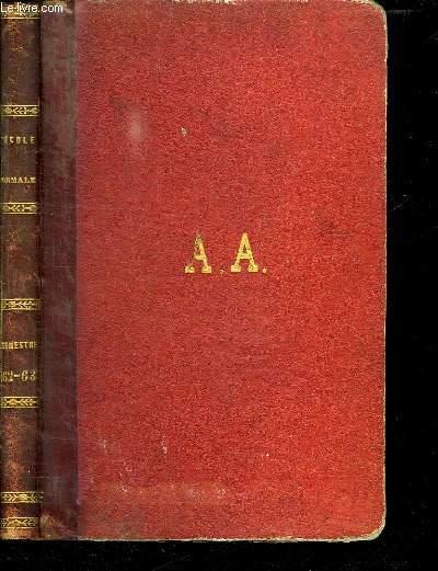 L ECOLE NORMALE. JOURNAL DE L ENSEIGNEMENT PRATIQUE. 1862 - 1863. HUITIEME VOLUME.
