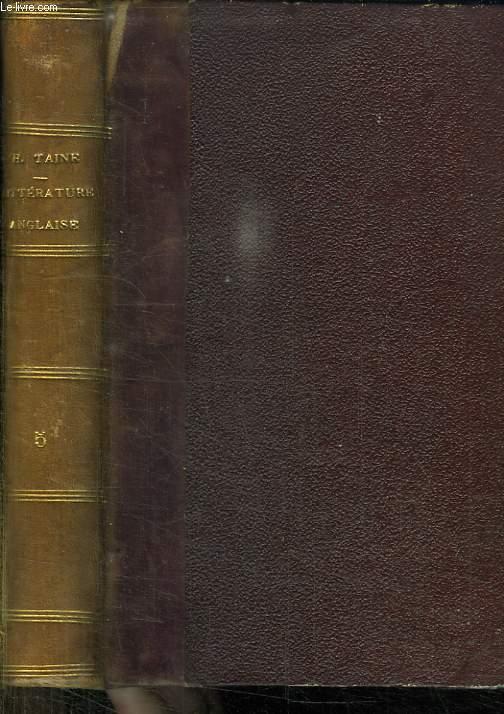 HISTOIRE DE LA LITTERATURE ANGLAISE. TOME 5 ET COMPLEMENTAIRE. LES CONTEMPORAINS.