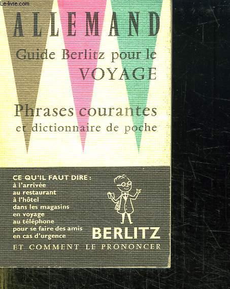 PHRASES COURANTES ET DICTIONNAIRE DE POCHE ALLEMAND.