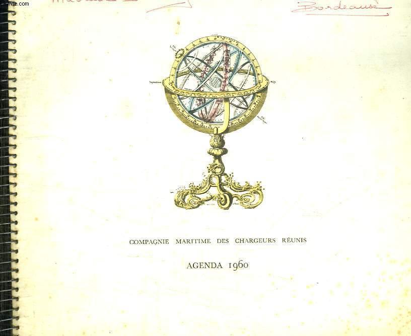 COMPAGNIE MARITIME DES CHARGEURS REUNIS. AGENDA 1960.