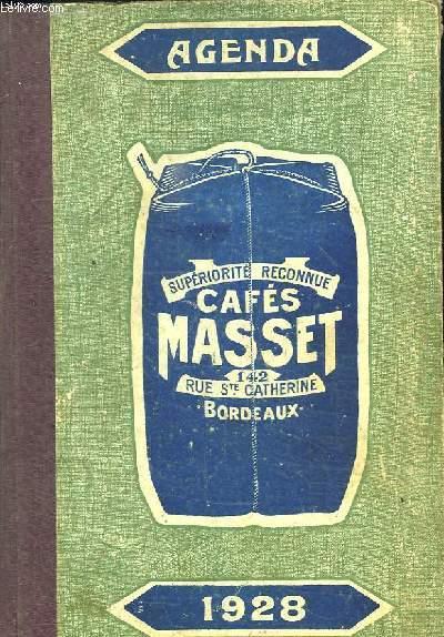 AGENDA MASSET 1928. OFFERT PAR LA CAFETERIA MASSET.