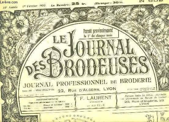 LE JOURNAL DES BRODEUSES N° 659. ANNEE 1950.