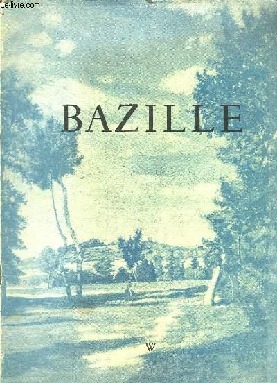 BAZILLE. EXPOSITION ORGANISEE AU PROFIT DU MUSEE DE MONTPELLIER JUIN JUILLET 1950.