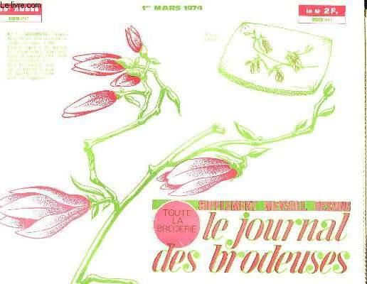 LE JOURNAL DES BRODEUSES N° 199. 1 ER MARS 1974.