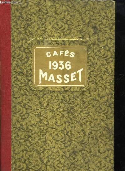 AGENDA MASSET . CAFETERIE MASSET 1936. 142 RUE SAINTE CATHERINE A BORDEAUX.