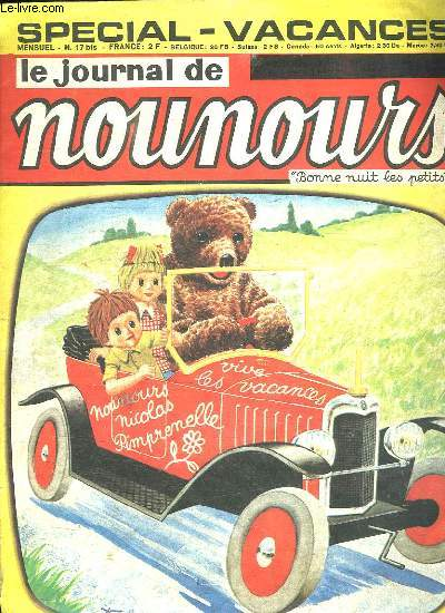 LE JOURNAL DE NOUNOURS N° 17. SPECIAL VACANCES.