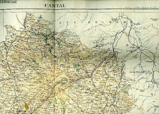 CARTE DU CANTAL.
