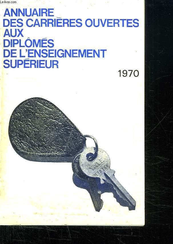 ANNUAIRE DES CARRIERES OUVERTES AUX DIPLOMES DE L ENSEIGNEMENT SUPERIEUR.