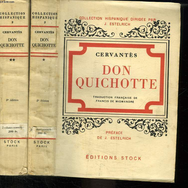 2 TOMES. DON QUICHOTTE.