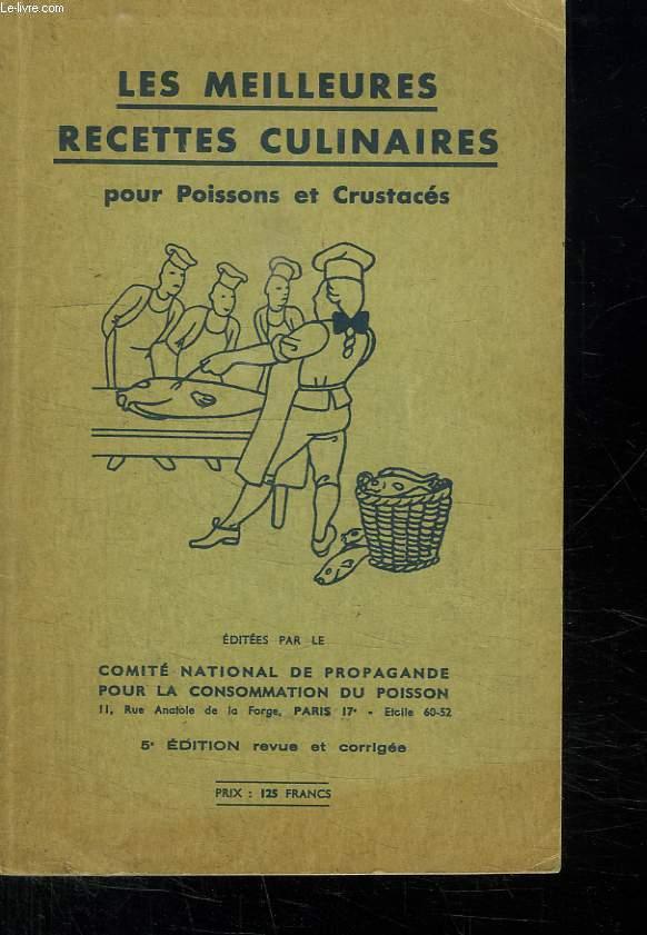LES MEILLEURES RECETTES CULINAIRES POUR POISSONS ET CRUSTACES.