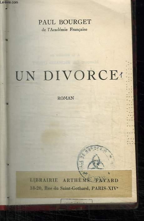 UN DIVORCE.