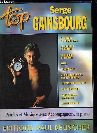 TOP SERGE GAINSBOURG. LA BALLADE DE JOHNNY JANE. DIEU FUMEUR DE HAVANES. LA CHANSON DE PREVERT. ELISA...