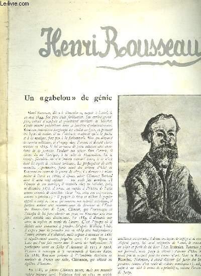 CHEFS D OEUVRES DE L ART N° 43. HENRI ROUSSEAU. UN GEBELOU DE GENIE.